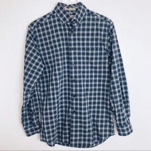 LL Bean Wrinkle Resistant Plaid Button Down Shirt